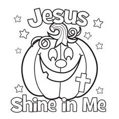 jesus shine coloring picture halloween