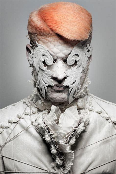 david arnal covered face art conceptual