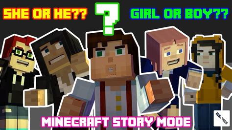 ps3 themes minecraft story mode unknown gender girl or boy minecraft story mode gender