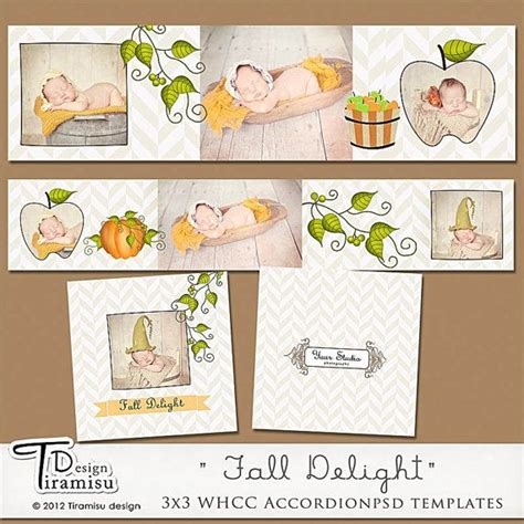 templates for accordian cards whcc 3x3 whcc accordion album templates fall delight by