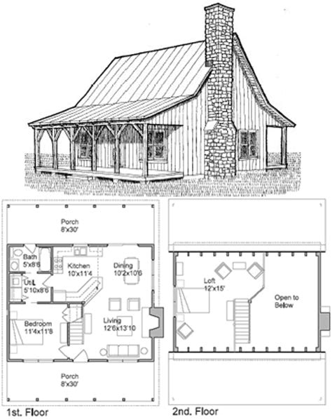 Small Cottage Plans With Loft Cottage House Plans Tiny House Plans With A Loft