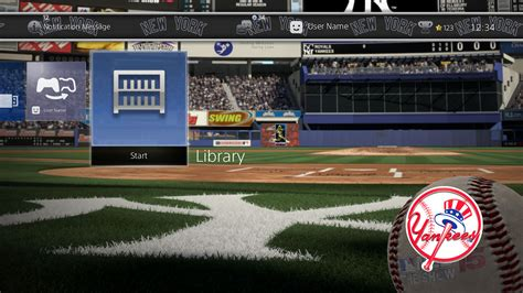 ps4 themes mexico mlb 174 15 the show dynamic theme new york yankees en ps4