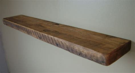reclaimed barn wood floating shelf 40 x 10 x by