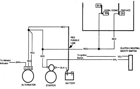 94 chevy truck alternator wiring diagram get free image