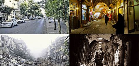 syria before and after before and after heartbreaking photos display what war