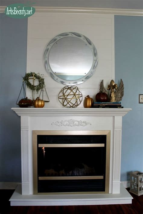 Hometalk   Cheap and EASY Faux SHIP LAP Fireplace Makeover