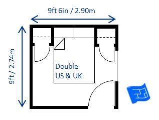small bedroom size minimum bedroom size for double bed 9ft x 9ft 6in