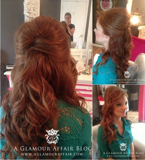 up hairdos back and front half up half down hairstyle for a bride front view and