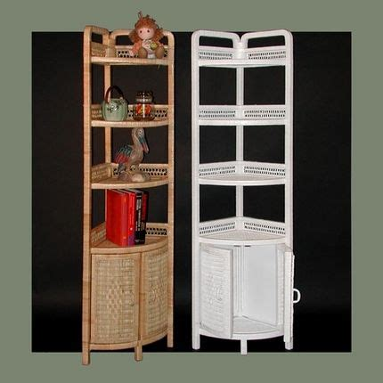 White Wicker Bathroom Furniture This Corner Standing Wicker Shelf Gives You Reason To Decorate The Corner Of Any Room Home