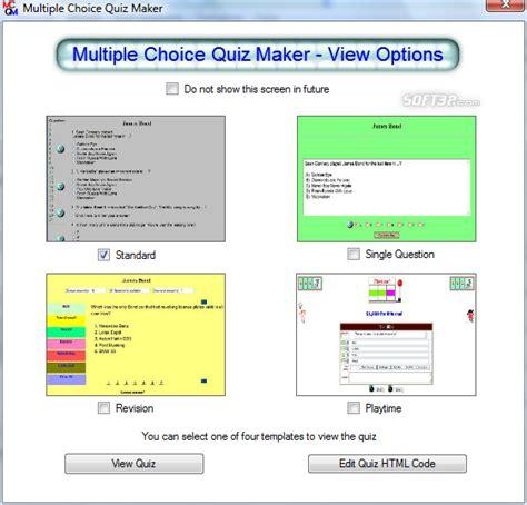 printable quiz maker free multiple choice quiz maker