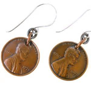 Necklaces With Name Copper Penny Earrings