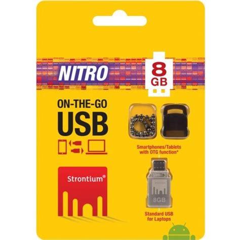 Flashdisk Strontium 8gb strontium nitro otg usb flash drive 8gb sr8gsbotg1