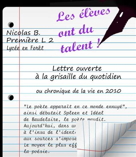Exemple De Lettre Ouverte Sur L Environnement Le De Bruno Rigolt Invitations Ideas