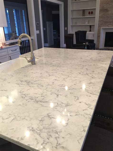 floor and decor leftover slabs of quartz island with apron sink done in viatera quartz quot rococo quot rather than marble if you like quot no