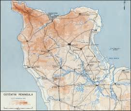 Utah Beach Map by Hyperwar Utah Beach To Cherbourg 6 June 27 June 1944