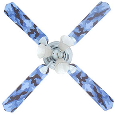 blue camouflage boys ceiling fan with lights kids