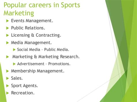 Mba In Sports Marketing And Management by Sport Marketing Presentation German In