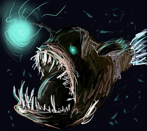 deep sea angler fish by kelkis on deviantart