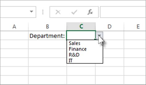 Selection Ori Non Box create a drop list in excel 2016 for windows excel