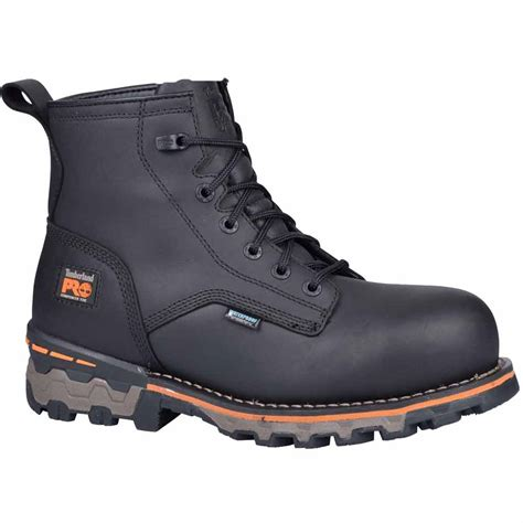 timberland work boots for timberland pro black 6 inch wp composite toe work boots a127r