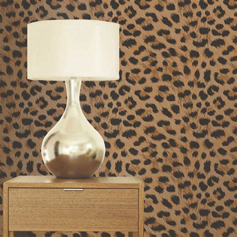 Leopard Decor by Luxury Leopard Print Wallpaper 10m Room Decor All Colours