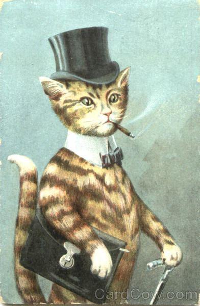 cigar smoking cat dressed animals