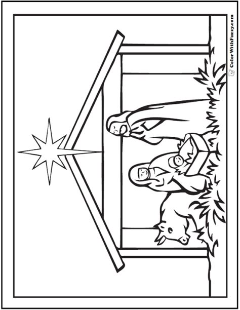nativity coloring page pdf christmas coloring pictures