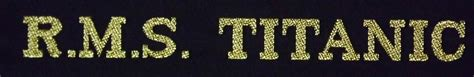 rowan section tally titanic gifts memorabilia www rmstitanic100 co uk