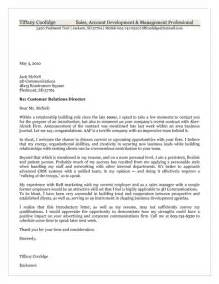 cover letter to client customer cover letter exle
