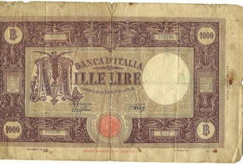 d italia lire mille d italia 1000 mille lire coin community forum