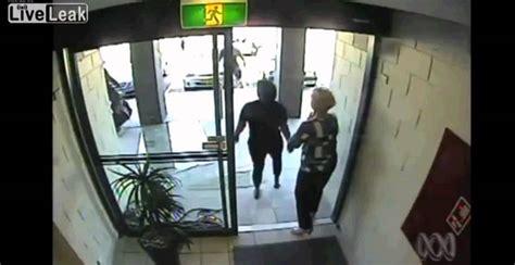 Robber Runs Into Glass Door Youtube Running Into Glass Door