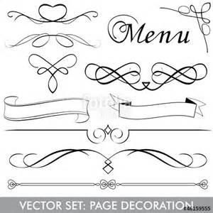 quot vector set menu page decoration quot fichier vectoriel libre