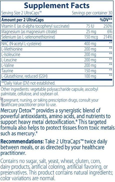 Integrative Therapeutics Mercury Detox by Integrative Therapeutics Mercury Detox Support For Heavy