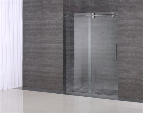 shower doors sliding frameless langham completely frameless sliding alcove shower door