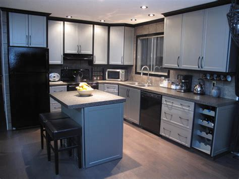 kitchen cabinets in edmonton cabinet refacing modern kitchen edmonton by reface