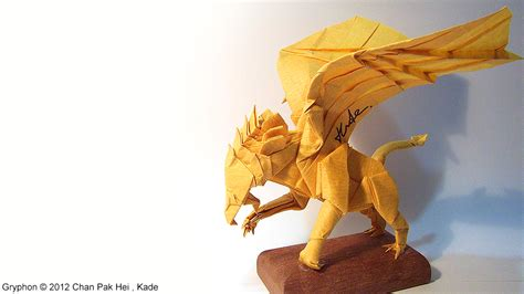 How To Make An Origami Griffin - kade chan origami 香港摺紙工作室 日誌 gryphon 獅鷲 影片教學