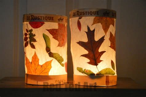 Easy Paper Lanterns To Make - leaf lanterns ted s