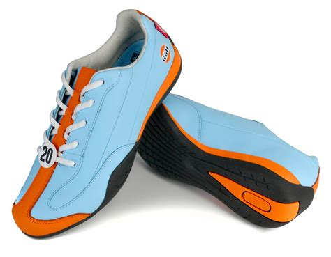 sports car driving shoes the quot i m dreaming of a gulf blue and orange