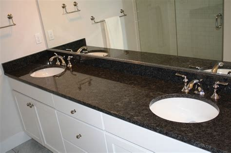 Granite Countertops Ideas Kitchen Arabian Black Steel Grey Traditional Bathroom