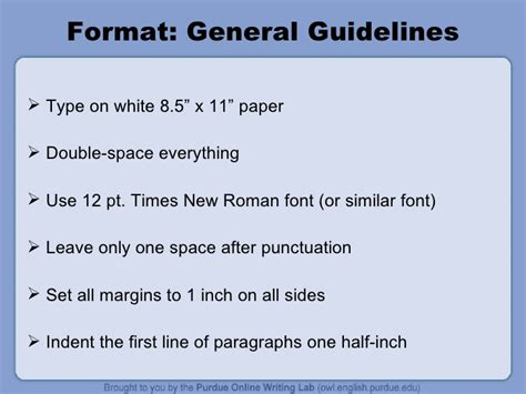 Academic Essay Font Size by The Owl Mla Formatting Power Point