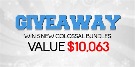 Inky Deals The New Colossal Bundle With Worth Of Top Quality giveaway win 5 new colossal bundles value 10 063 from