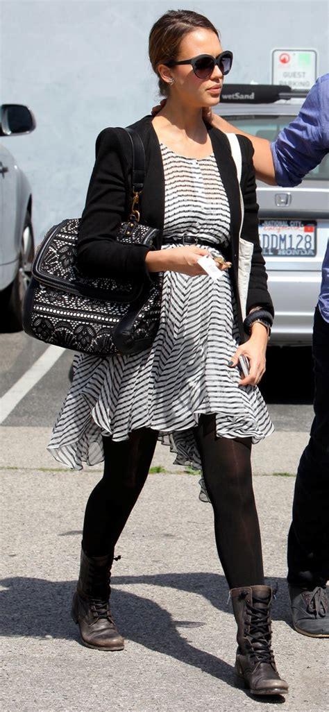 celebrity nursing style jessica alba maternity style