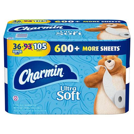 charmin ultra soft toilet paper  sheets  roll  super rolls sams club