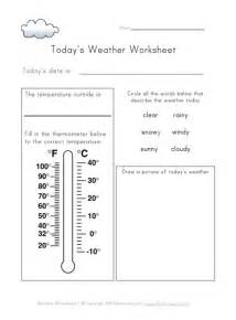 today s weather worksheet