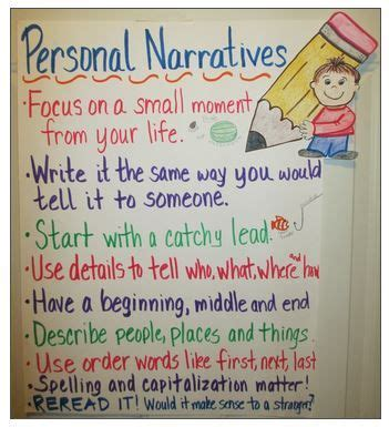 Fsot Personal Narrative Essays by Personal Narratives Anchor Charts And Anchors On
