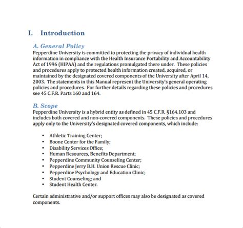 12 Policy And Procedure Templates To Download Sle Templates It Policies And Procedures Template
