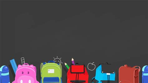 back to school background back to school animated background school bags sliding on