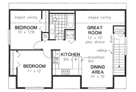 1 Bedroom Cottage Floor Plans Bungalow Style House Plan 2 Beds 1 00 Baths 928 Sq Ft