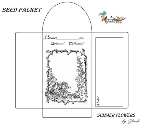 printable seed packet template 1000 images about seed packets on gardens