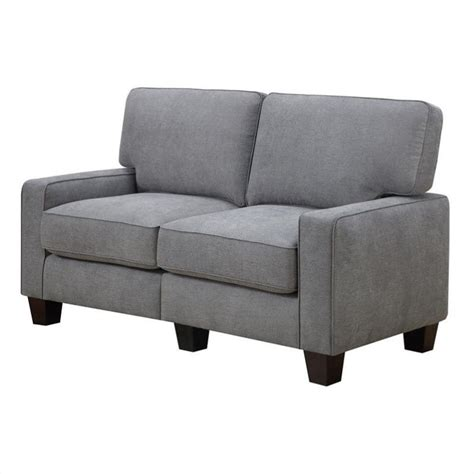 61 quot loveseat in glacial gray cr45232b